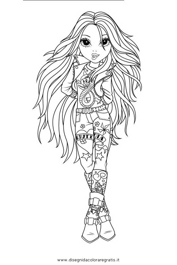 Disegno Moxie Girlz 21 Personaggio Cartone Animato Da