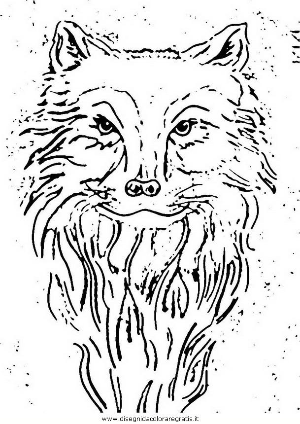 disegno lupo 001 personaggio cartone animato da colorare
