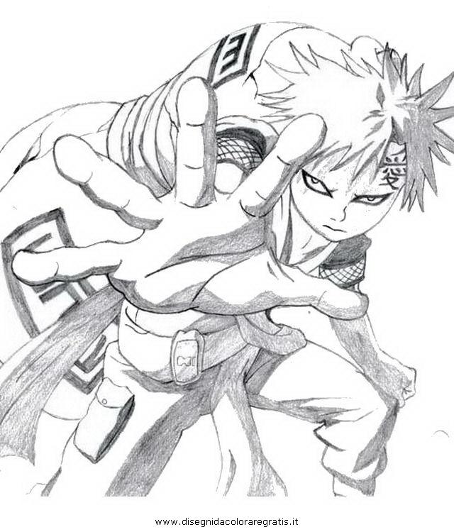 Disegno Naruto Gaara 3 Personaggio Cartone Animato Da Colorare