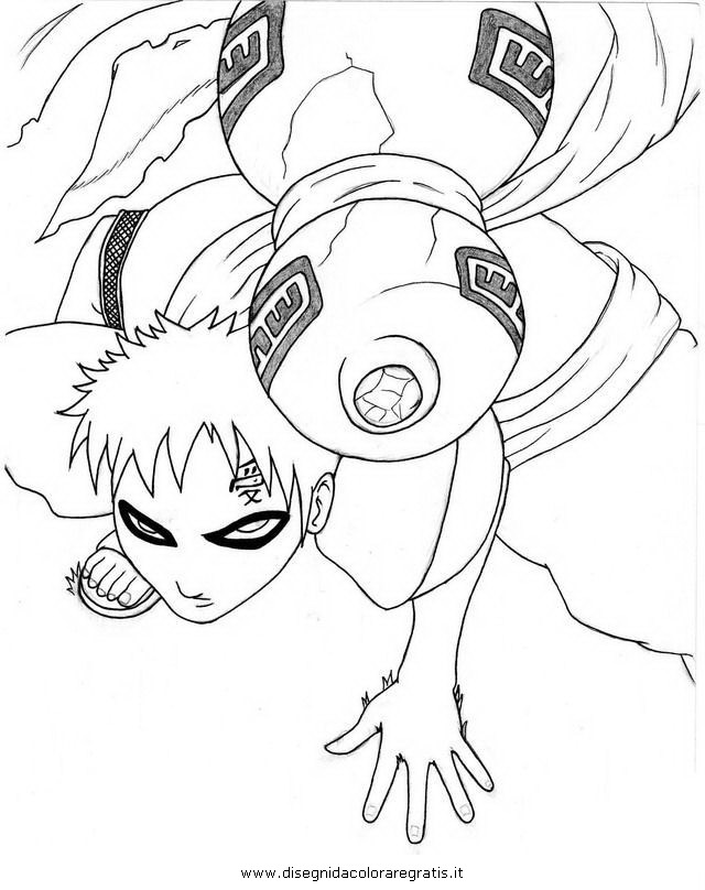 Disegno naruto gaara personaggio cartone animato da