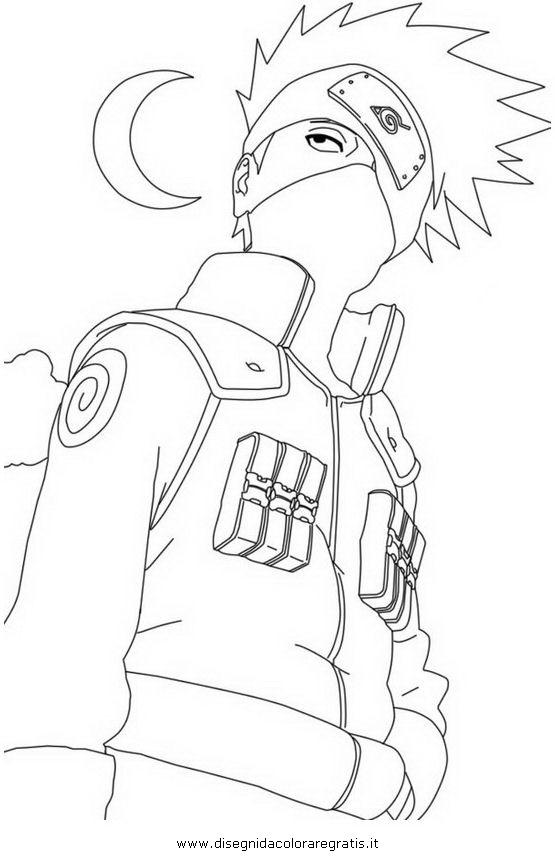 Disegno naruto kakashi personaggio cartone animato da