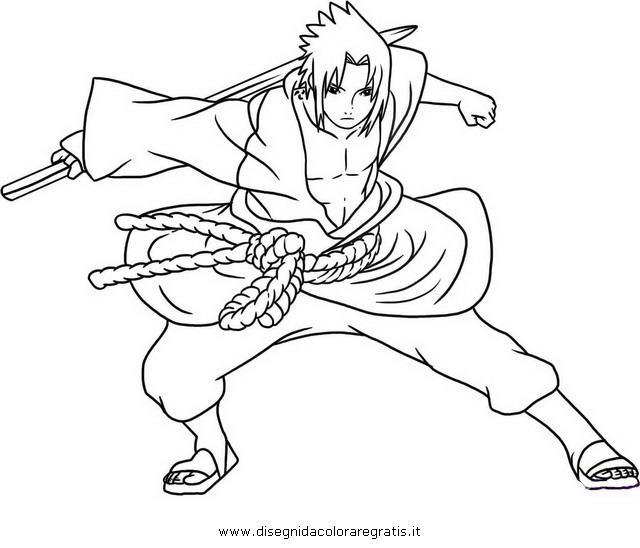 Disegno Naruto Sasuke 04 Personaggio Cartone Animato Da Colorare