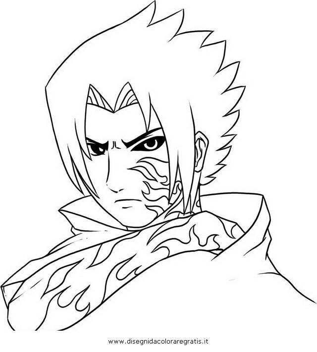 Disegno naruto sasuke personaggio cartone animato da