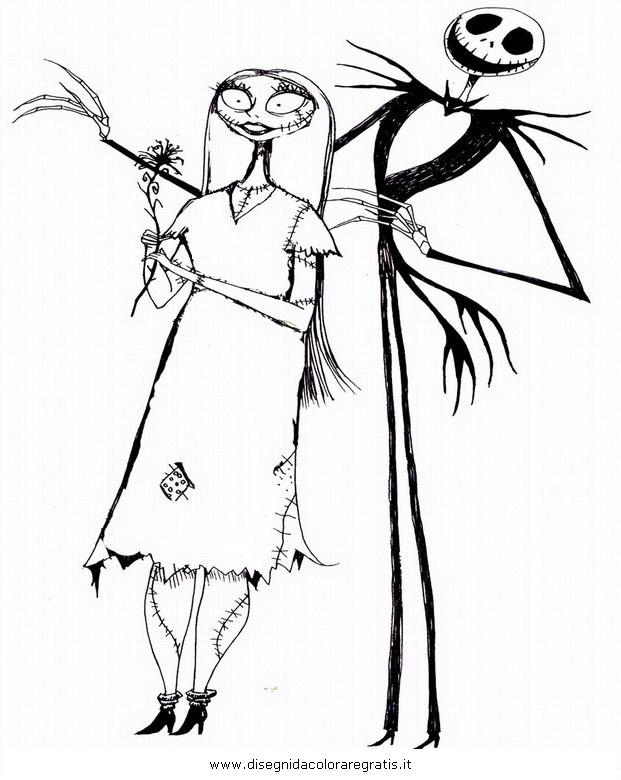 Disegno jack skeletron personaggio cartone animato da