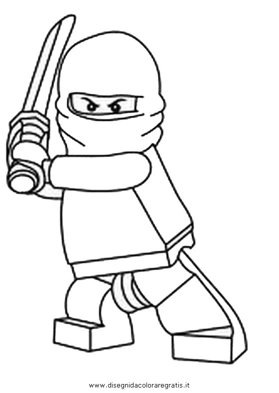 Lego Ninja Coloring Pages #9