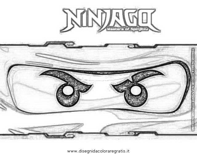 Disegno ninjago lego personaggio cartone animato da