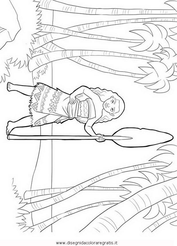 Disegno oceania vaiana personaggio cartone animato da