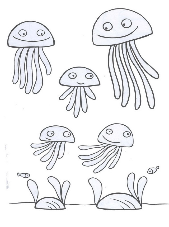 Disegno ondino meduse personaggio cartone animato da colorare for Medusa da colorare