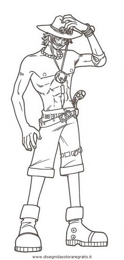 Disegno one piece personaggio cartone animato da colorare
