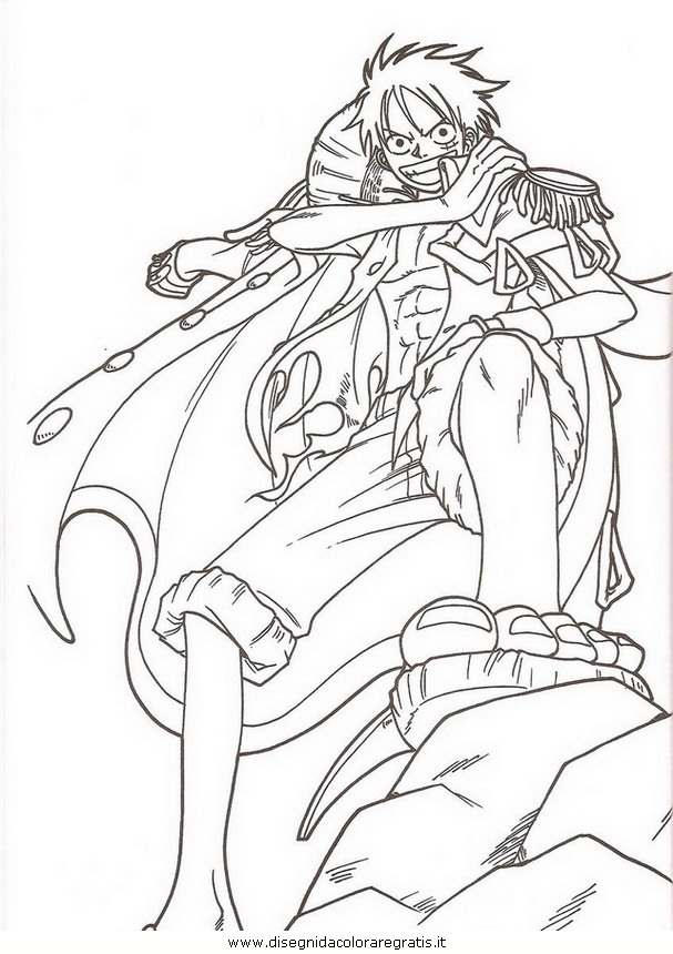 Disegno one piece 28 personaggio cartone animato da colorare for Dibujos one piece