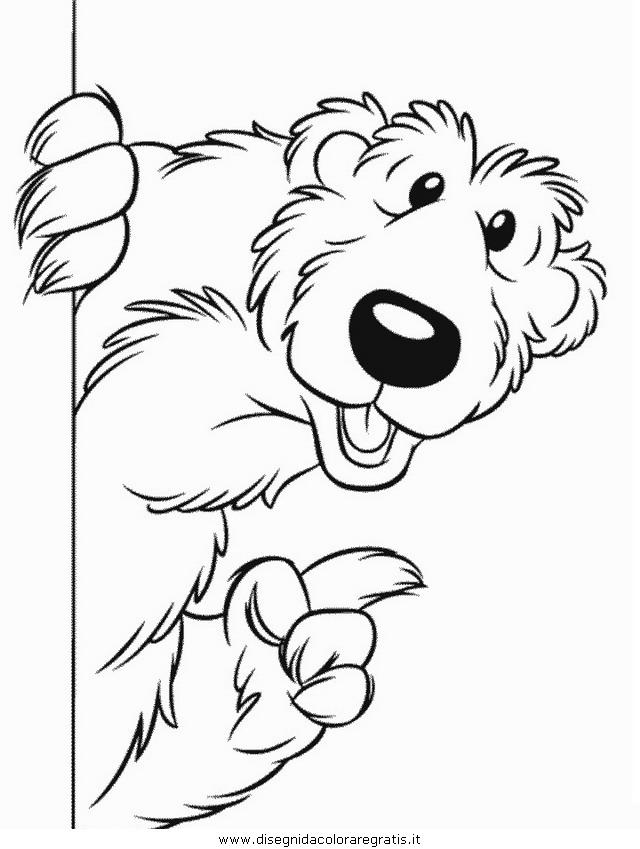 Disegno orso bear personaggio cartone animato da colorare