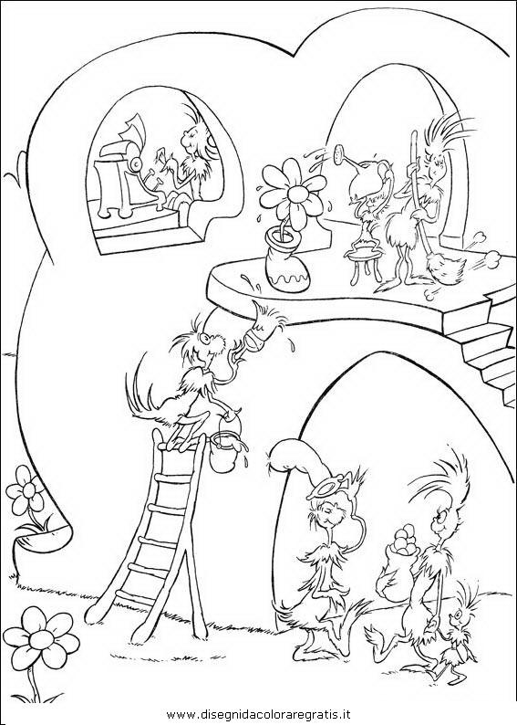 Disegno ortone personaggio cartone animato da colorare