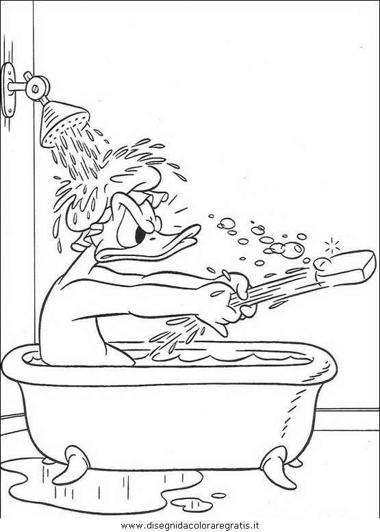 Disegno disney paperino personaggio cartone animato