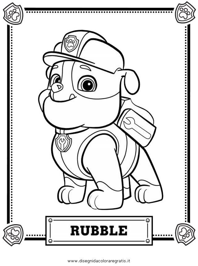 Disegno Paw Patrol 01 Personaggio Cartone Animato Da Colorare