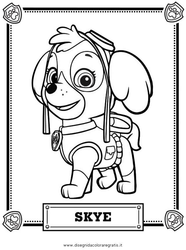 Disegno Pawpatrol06 Personaggio Cartone Animato Da Colorare