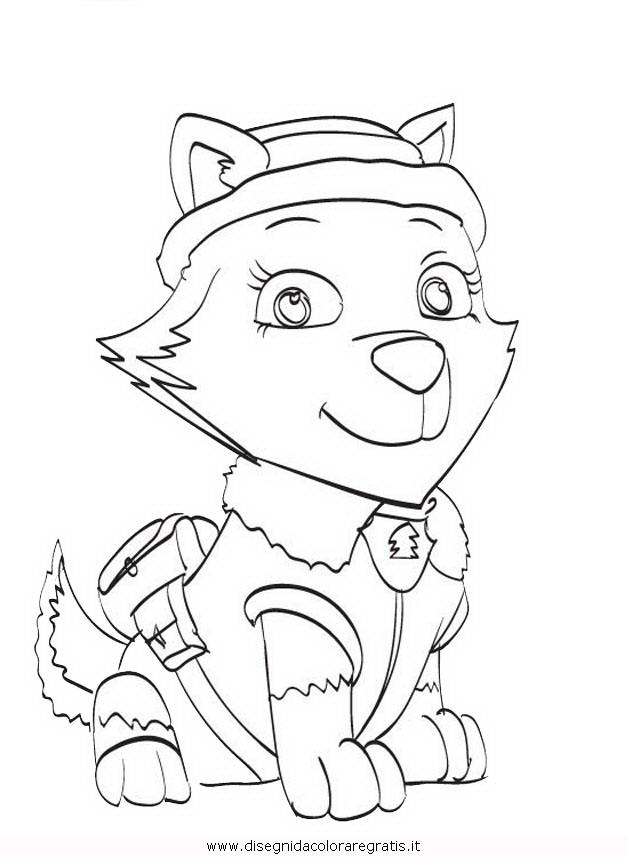 Disegno pawpatrol everest personaggio cartone animato
