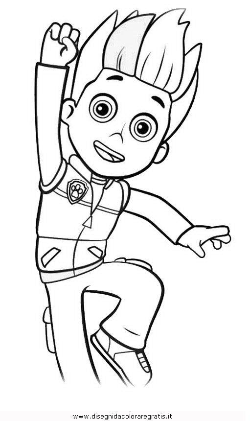 Disegno pawpatrol ryder 1 personaggio cartone animato da for Disegni di paw patrol