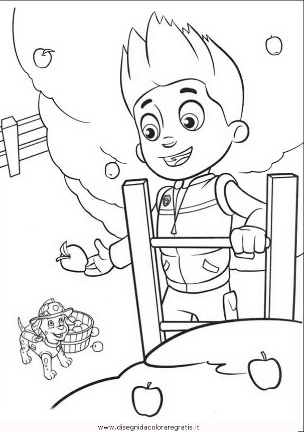 Disegno Pawpatrol Ryder 2 Personaggio Cartone Animato Da Colorare