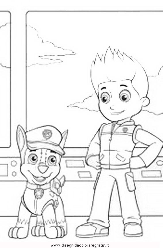 Disegno pawpatrol ryder personaggio cartone animato da