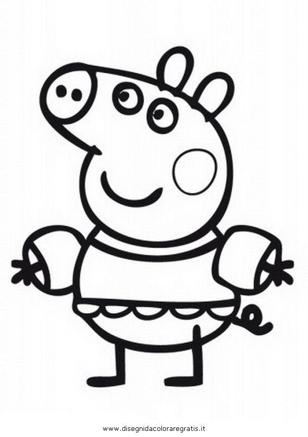 Disegno peppa pig braccioli piscina personaggio cartone for Peppa pig da stampare