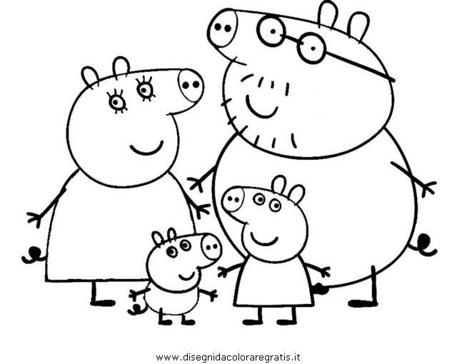Free coloring pages of peppa pig swimming