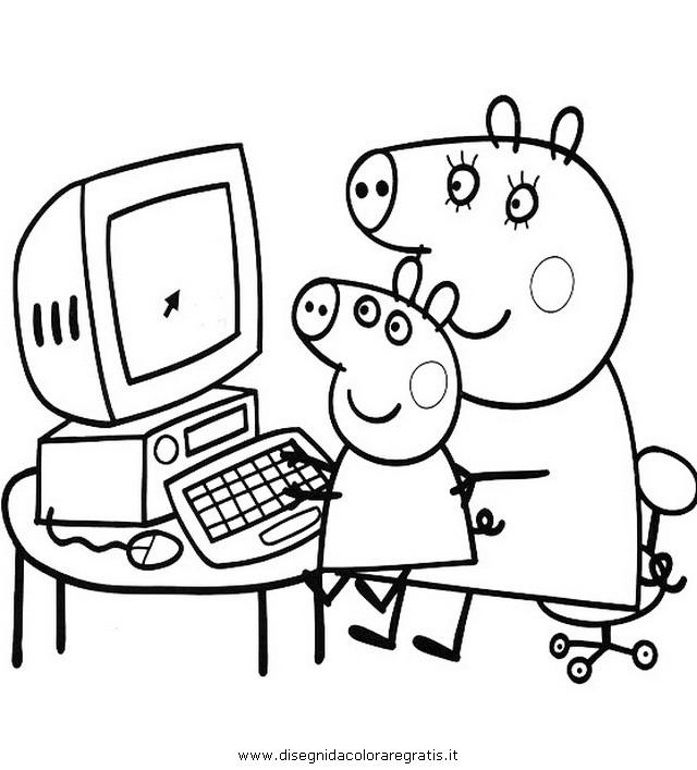 Disegno peppa pig 22 personaggio cartone animato da colorare for Peppa pig da stampare
