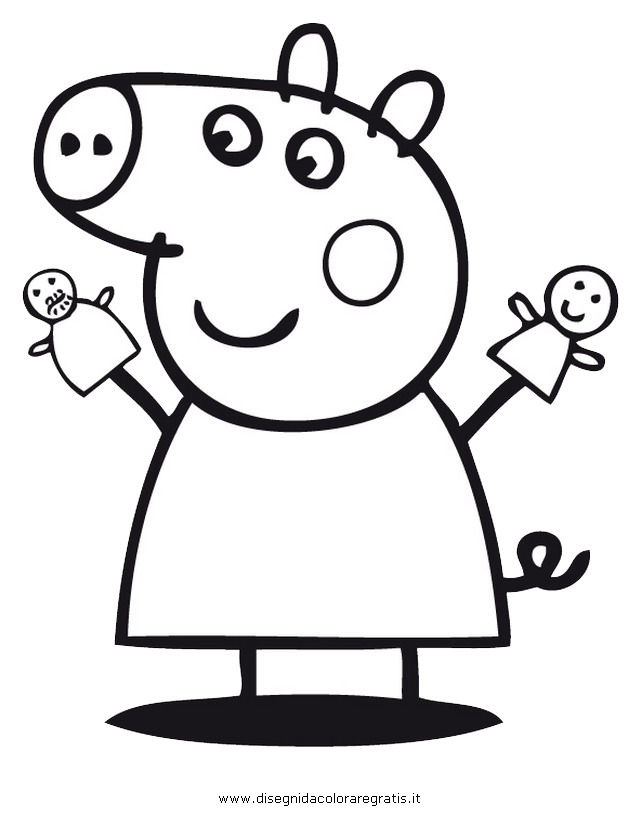 Disegno peppa pig 35 personaggio cartone animato da colorare for Peppa pig da stampare