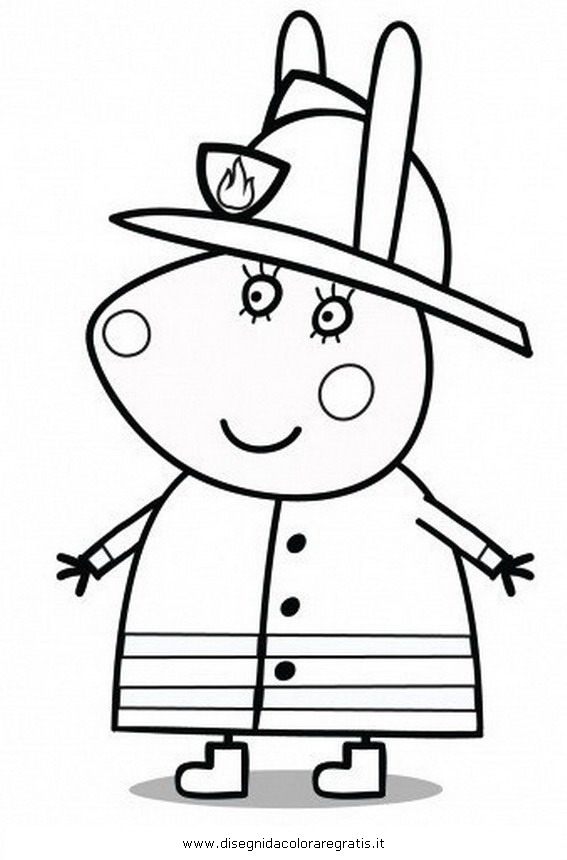 Peppa Pig-Peppa colouring pages