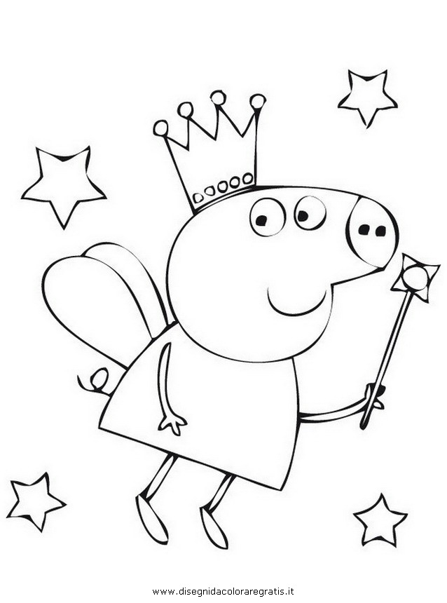 Disegno peppa pig 45 personaggio cartone animato da colorare for Immagini peppa pig da colorare