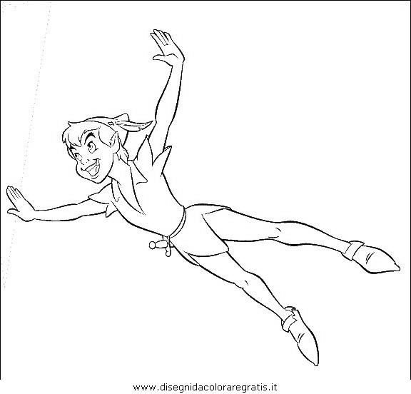 Disegno peter pan 16 personaggio cartone animato da colorare - Peter pan colorare pagina di colorazione ...