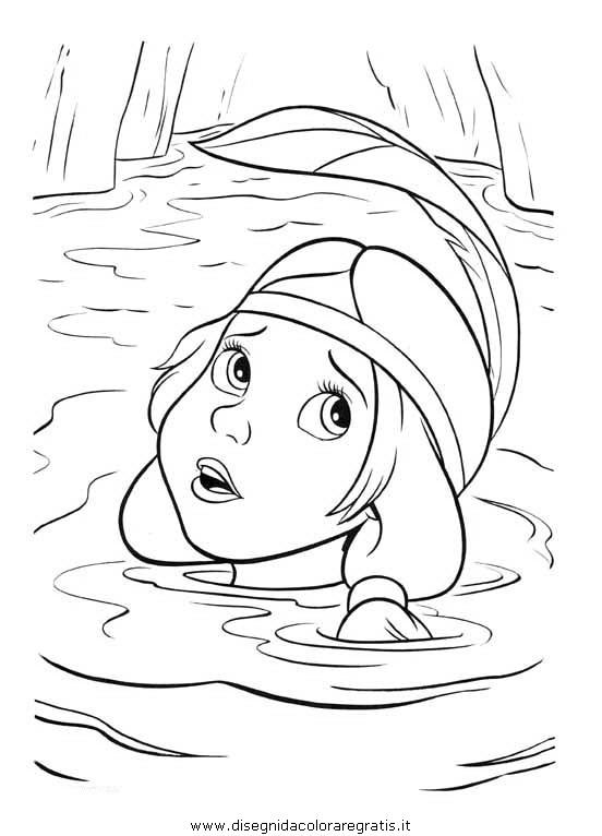 Disegno peter pan personaggio cartone animato da colorare