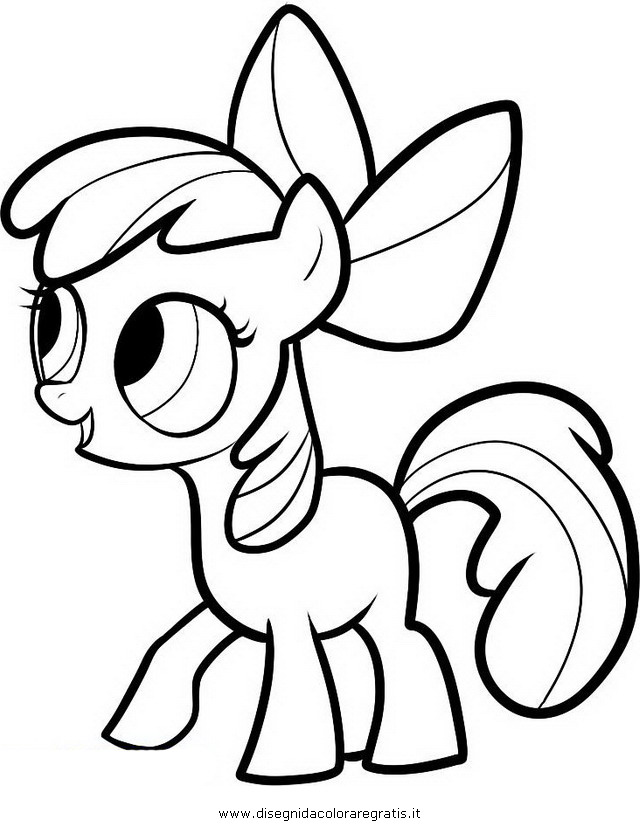 My Little Pony Coloring Pages Apple Bloom : Apple bloom colouring pages
