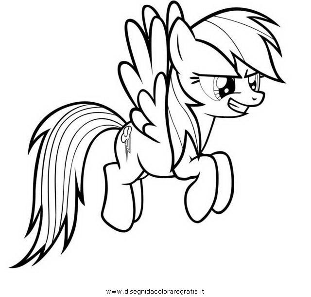 Disegno Piccolopony Rainbow Dash 2 Personaggio Cartone