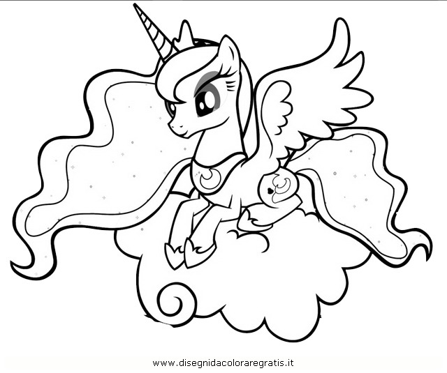 Coloring Pages My Little Pony Princess Luna : Free coloring pages of princess luna moon