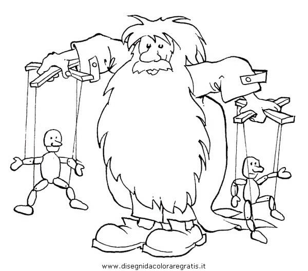 Disegno pinocchio personaggio cartone animato da