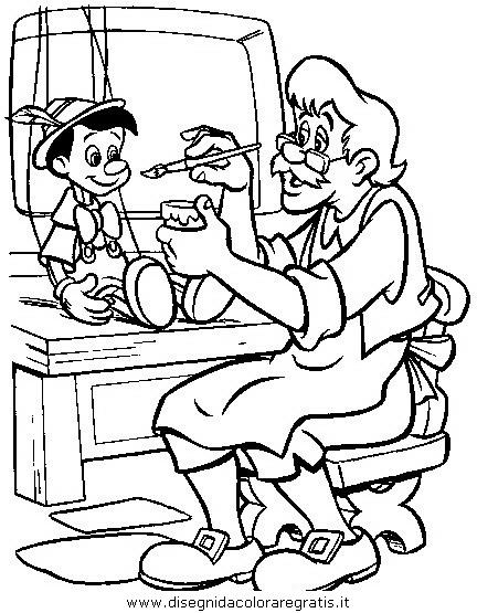 Disegno Pinocchio 34 Personaggio Cartone Animato Da Colorare