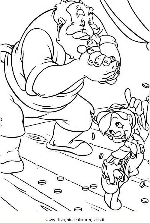 Disegno pinocchio personaggio cartone animato da colorare