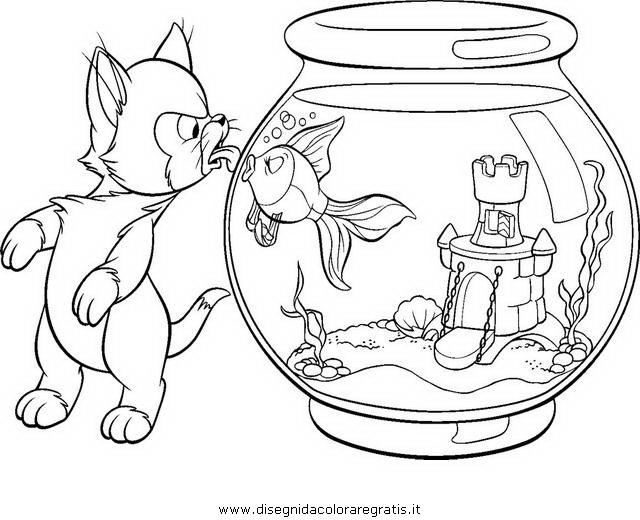 Disegno pinocchio figaro personaggio cartone animato da