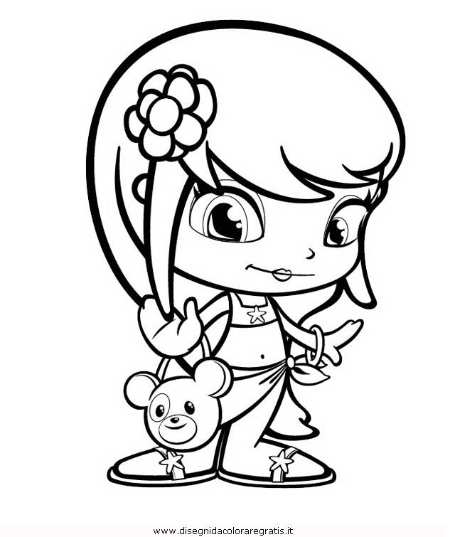 Disegno pinypon personaggio cartone animato da colorare