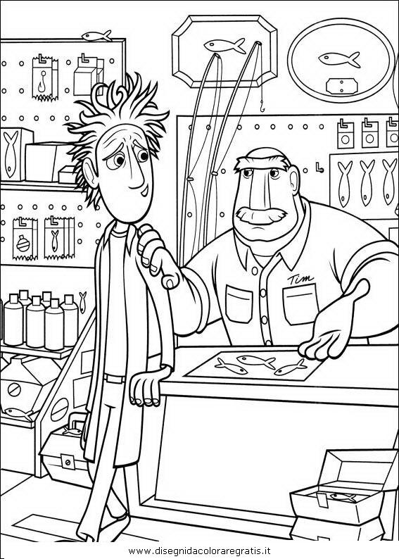 Disegno piovono polpette personaggio cartone animato