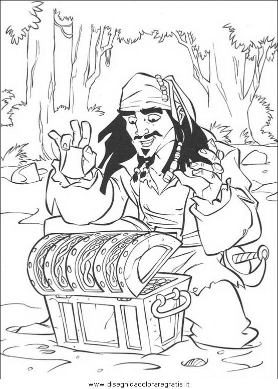 Disegno Pirati Caraibi 28 Personaggio Cartone Animato Da Colorare
