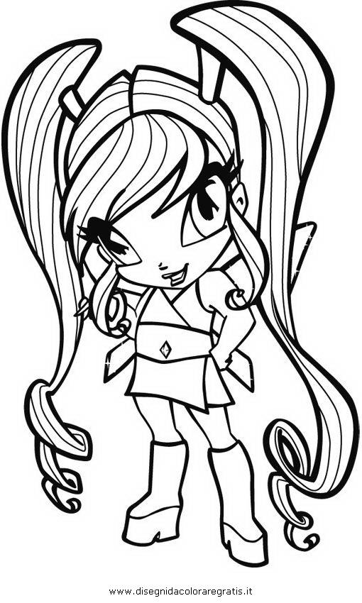 Disegno pixie personaggio cartone animato da colorare