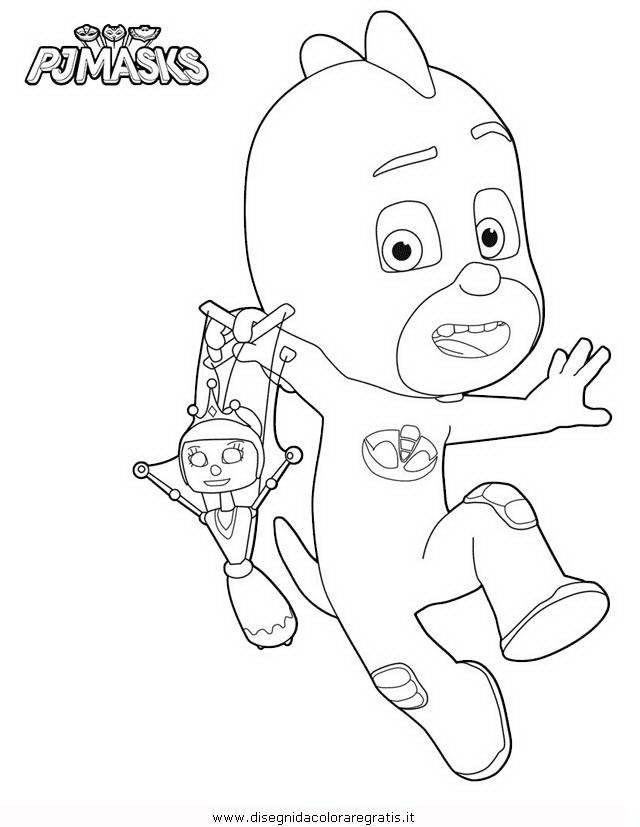 Disegno Pjmask 02 Personaggio Cartone Animato Da Colorare