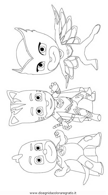 Disegno Pjmask 05 Personaggio Cartone Animato Da Colorare