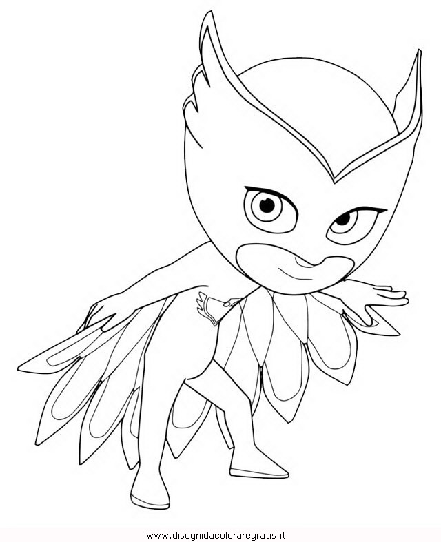 Disegno pjmask personaggio cartone animato da colorare