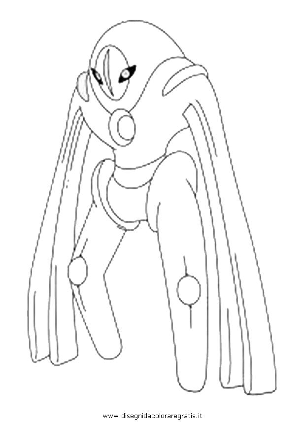 Disegno deoxys3 personaggio cartone