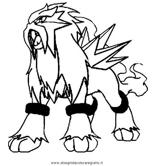 raikou coloring pages - photo#29