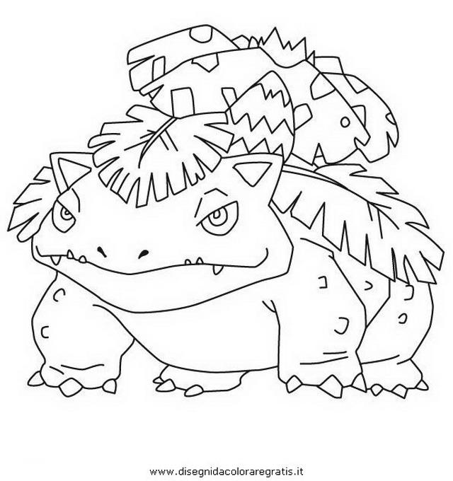 Disegno Florizarre3 Pokemon Personaggio Cartone Animato
