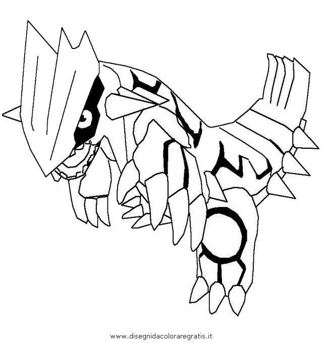 Disegno Groudon 2 Personaggio Cartone Animato Da Colorare
