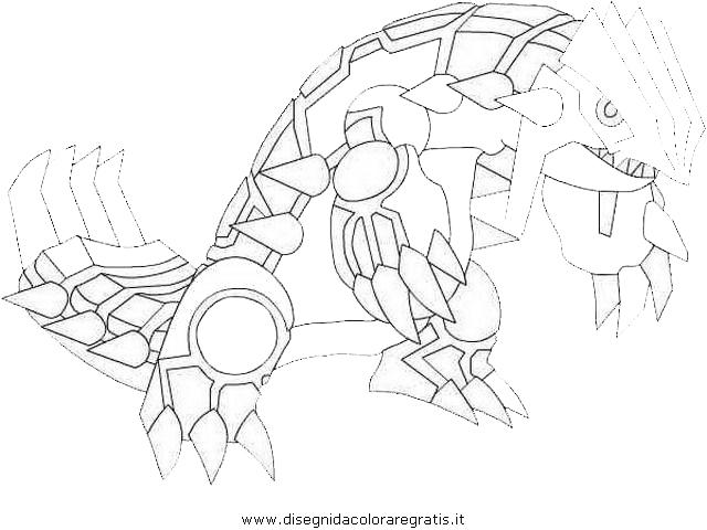 Disegno groudon 3 personaggio cartone animato da colorare - Coloriage pokemon deoxys ...